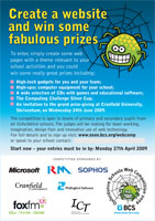 BCS Oxfordshire Schools Web Competition 2009 poster