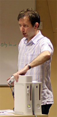 Simon Prytherch with the Xbox 360