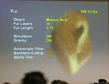 Demo of the Xbox 360 fur rendering