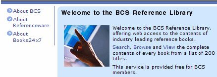online library - consult the BCS members' secure area for access instructions