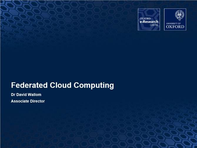 Federated Cloud Computing